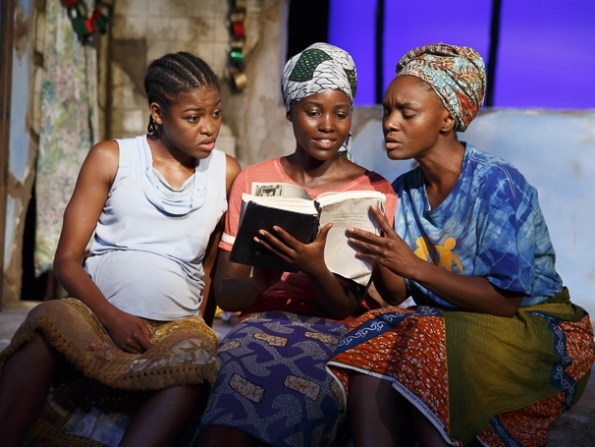 Pascale Armand, Lupita Nyong'o and Saycon Sengbloh Photo by Imogen Lloyd Webber