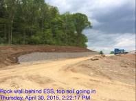 Retaining Wall Behind ESS