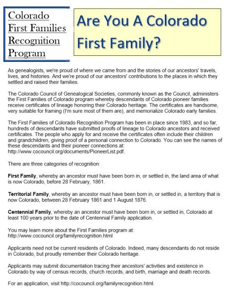 Publications & Projects – Columbine Genealogical & Historical Society