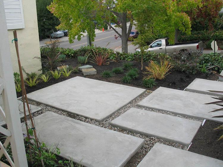 Modern Concrete Patio, Oakmore, Oakland