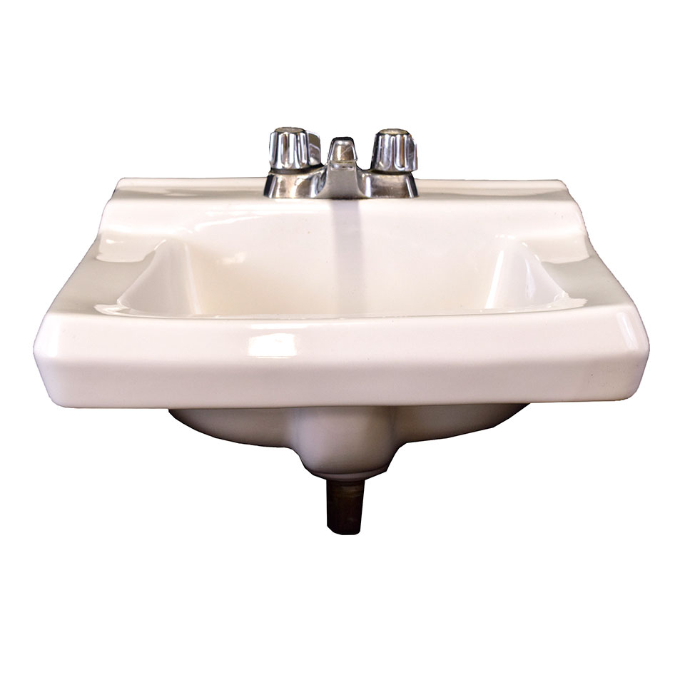 wall mount porcelain sink