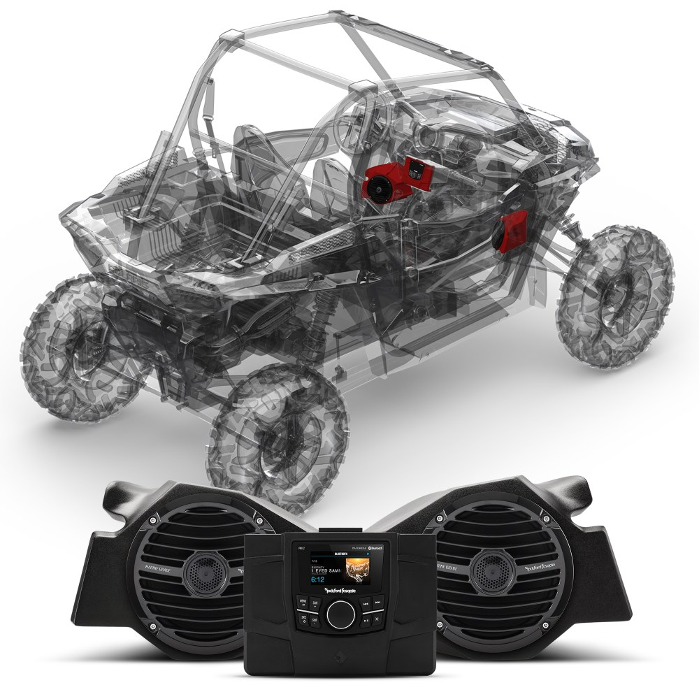 medium resolution of rockford fosgate stage 2 stereo front speaker kit for polaris rzr