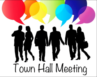 town hall disaster monday meeting night held