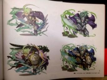圖是Puzzle and Dragon官方畫集其中一頁,木英雄神的設計在確定稿出來之前,其實有幾個設計,想看自己買XD