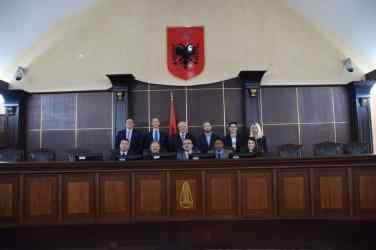 At-Supreme-Court-of-Albania-with-Chief-Justice W&L Law Students Organize International Anti-Corruption Conference