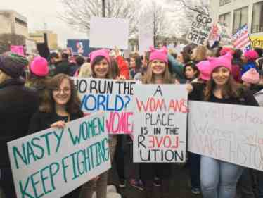 William Students Travel to Women's March on Washington