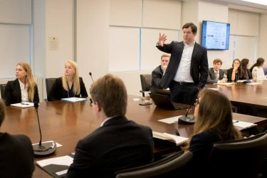 Students on the investment trip met with experts in the field.