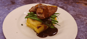 Read more about the article Duck Breast with Potato Dauphinoise and a Redcurrant and Dijon Sauce