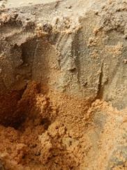 des textures de sable différents