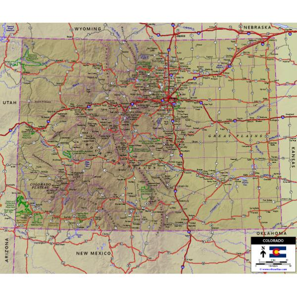 Be the first to discover secret destinations, travel hacks, and more. Colorado Highway Map World Sites Atlas Avenza Maps