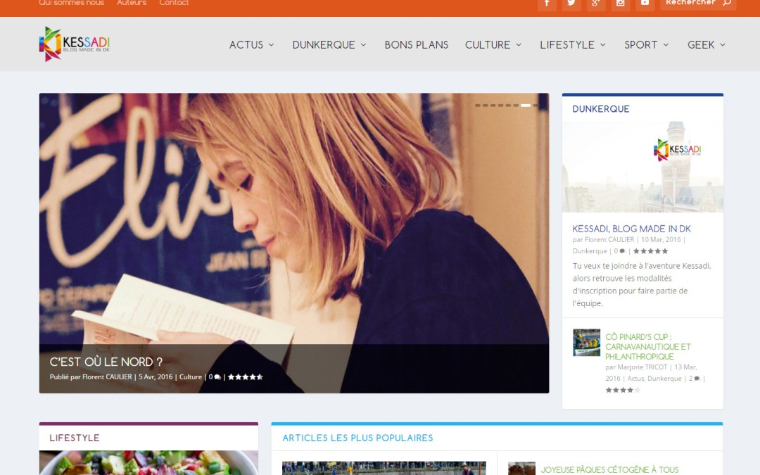 Site Internet du blog collaboratif Kessadi