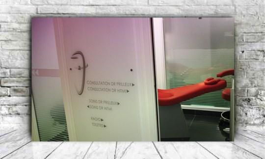 Création design pour signalétique cabinet dentaire - By com-empreintes - agence de communication pour TPE-PME