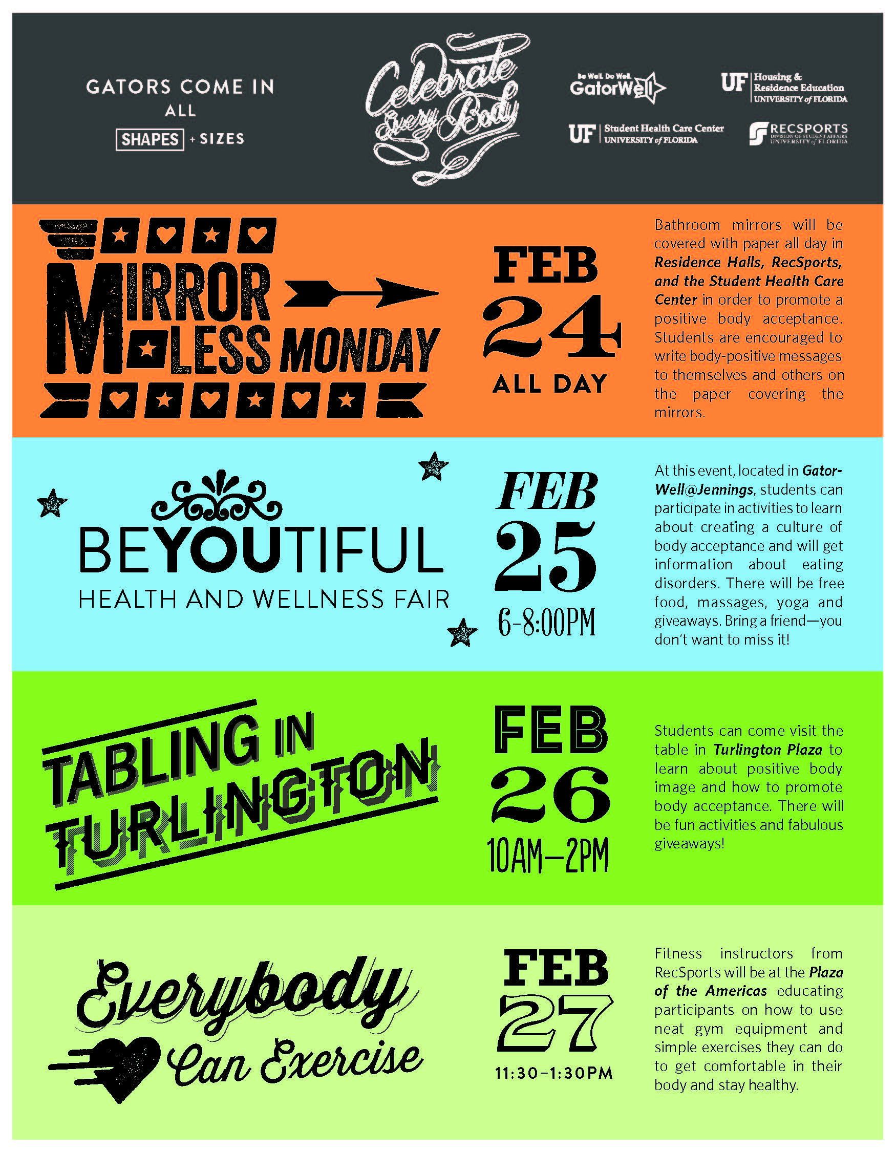 Feb 24 27 Celebrate Every Body Campus Events Student