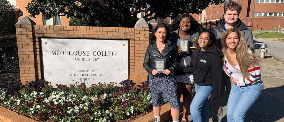 UM debaters at Morehouse College after winning the 2020 Social Justice Debates
