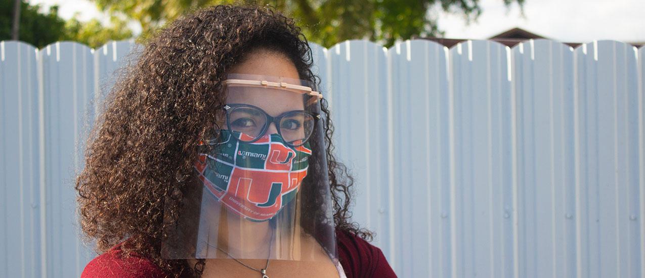 Lorena Lopez demonstrates the finished product. Photo courtesy of Lorena Lopez.