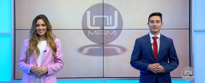 Isabella Santos and Piero Vasquez host an episode of UniMiami