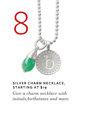 Silver Charm Necklace, Starting at $19 - Give a charm necklace with initials, birthstones and more.