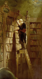 «El ratón de biblioteca» (1850), de Carl Spitzberg.