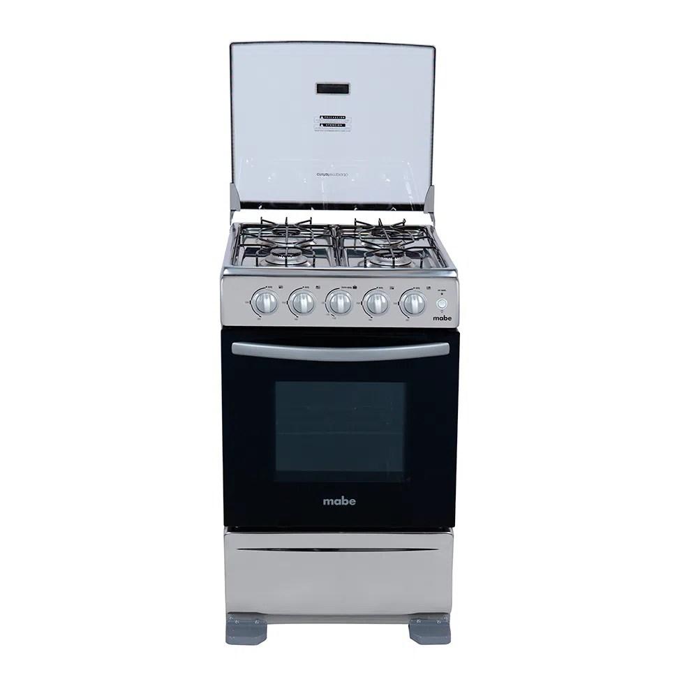Cocina a gas Mabe TX5120EX1  4 hornillas  Horno  Acero