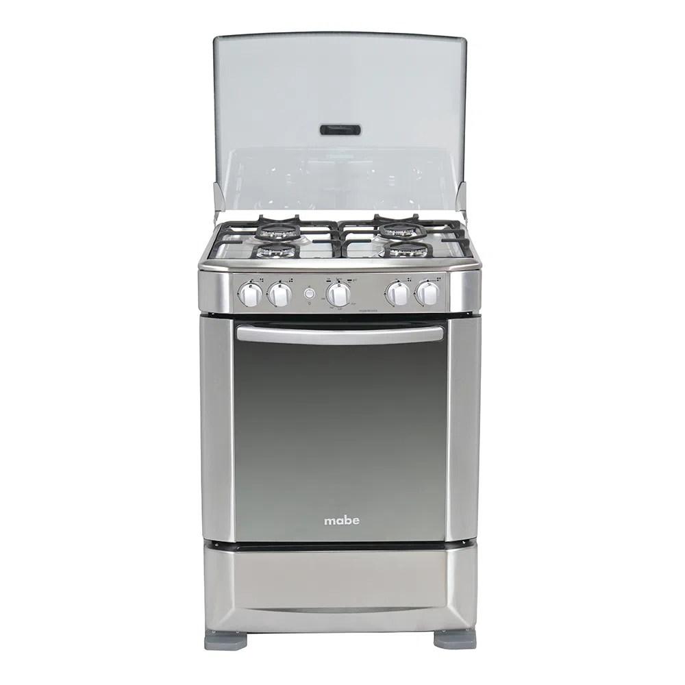 Cocina a Gas Mabe INGENIOUS6060EX1  4 hornillas  Termocontrol  Color inox  Comandato