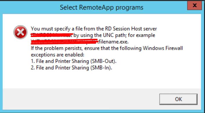 Publicar aplicación en unidad de red con Remoteapp