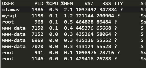 Ver los procesos que mas memoria consumen Linux