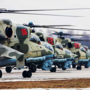 Russia, First training of Victory Parade's air show (Moscow region) Mil Mi-24 Hind (CC4 2019) [edit1180]