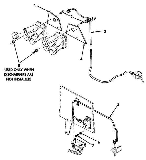 Figure 37. Smoke Grenade Launcher Wiring Harness Installation