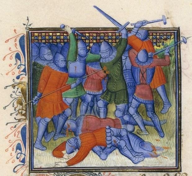 Fig. 3 – Paris, BnF, ms. fr. 2663, fol. 145 verso, Froissart, Chroniques.
