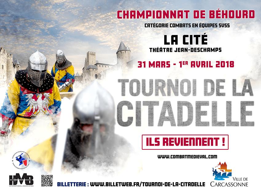 Tournoi de la Citadelle 2018 : inscriptions combattants