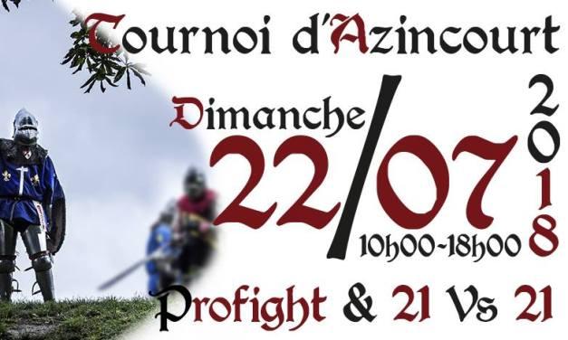 Tournoi d'Azincourt : inscriptions combattants