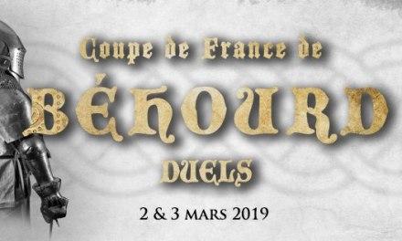 Coupe de France de béhourd en duel : inscriptions combattants
