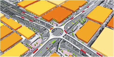Así quedará la intersección de la Calle Sexta por N.Q.S. Imagen tomada de www.idu.gov.co