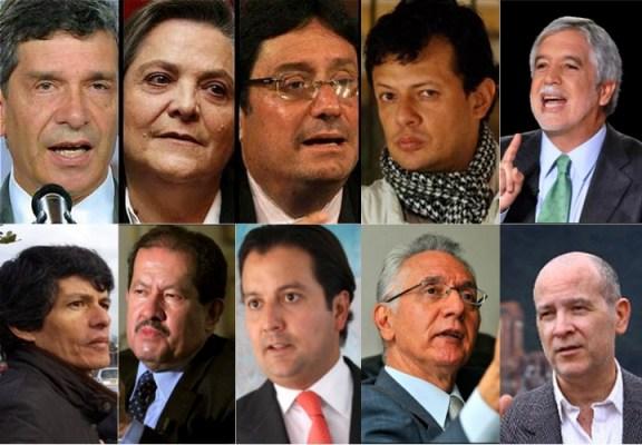 Posibles candidatos Alcaldía de Bogotá 2016-2020.