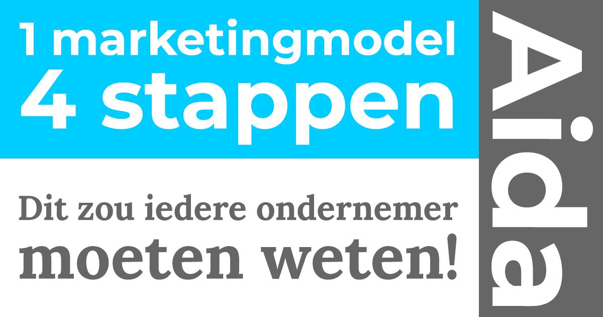 1 marketingmodel, 4 stappen, AIDA. Dit zou iedere ondernemer moeten weten!