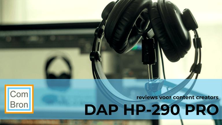 Review DAP HP-290 PRO gesloten koptelefoon.