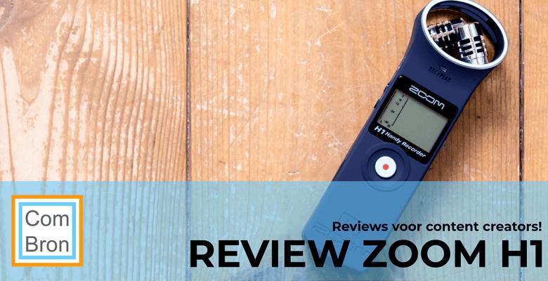 Review Zoom H1 audiorecorder voor vlogging en podcasting, maar ook gewoon voor het opnemen van een video.