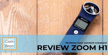 Review Zoom H1 audiorecorder.