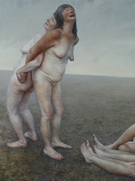 And We Were Birds | oil on canvas | 94 x 76 in. | Aleah Chapin