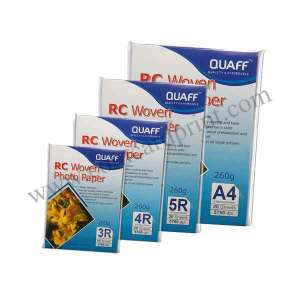 QUAFF RC Woven Photo Paper 3R, 4R, 5R, and A4 size