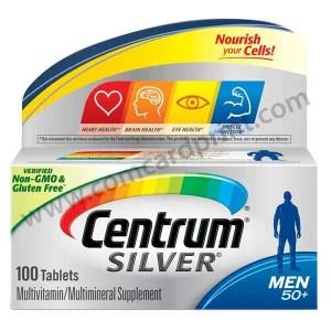 Centrum Silver Men 50+ Multivitamin Supplement 100 Tablets
