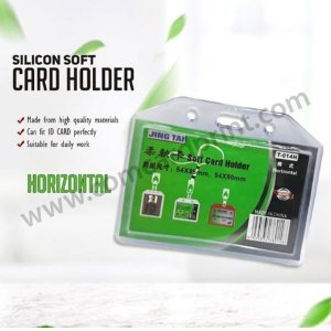 [HORIZONTAL] 5 pcs. JINGTAI Double-Sided Jelly ID Case / ID Holder / ID Protector 54*90mm Vertical / Horizontal