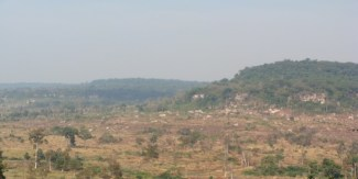 Landlessness amongst poor farmers has resulted in illegal logging to increase cultivatable area. Illegal logging has led to the deforestation and high fragmentation of the agroculture-forest area. Forest cover in the upland agricultural area has been almost entirely cleared. Deforestation contributes to low water retention and fertility in soil.
