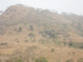 Degraded mountainside between Adzokoe and Todome which accommodates cave of tourism potential