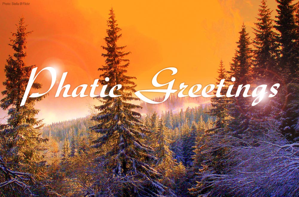 Phatic seasons greetings
