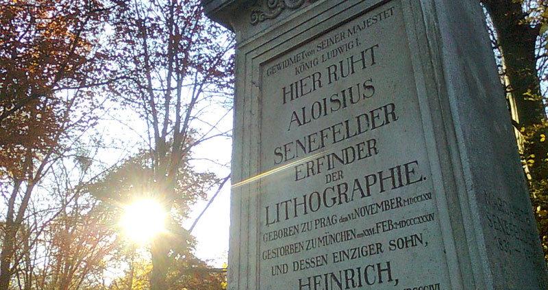 Visiting Alois Senefelder – inventor of lithography
