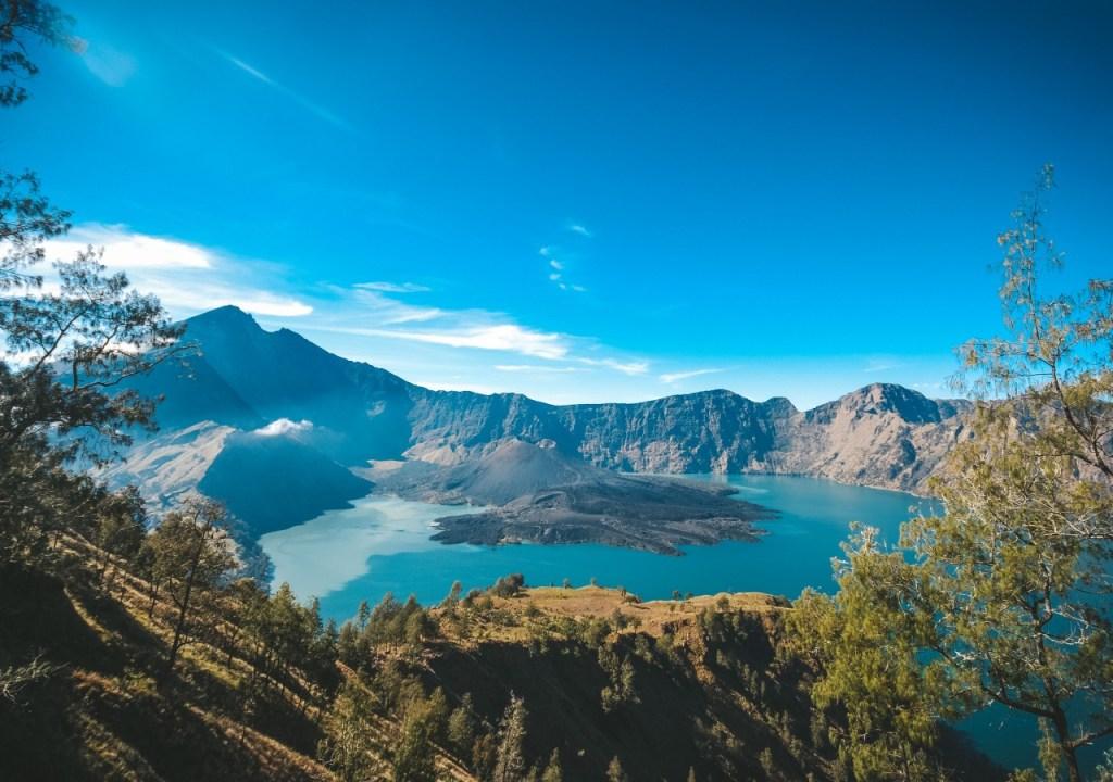 Vistas desde el monte Rinjani