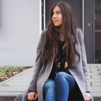 My Grey Asos Midi Coat