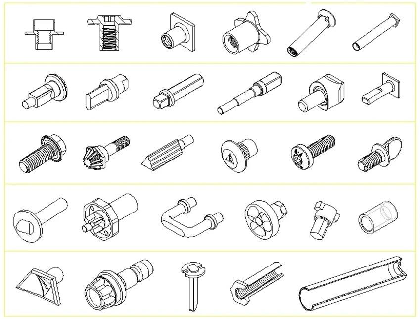 冷鍛零件、軸心、螺絲、中空鉚釘、插梢、雙頭螺絲-製造廠 / 甘倍實業股份有限公司