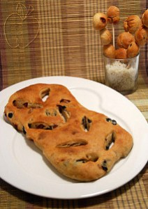Copie de Fougasse jambon olives